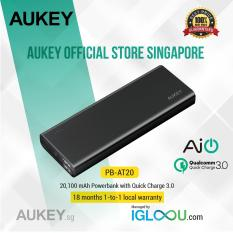 Aukey 20 100Mah Quick Charge 3 Power Bank Black 20001 Mah For Sale Online