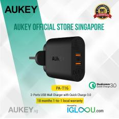 Who Sells Aukey 36W 2 Port Usb Wall Charger With Qualcomm Quick Charge 3 Black The Cheapest