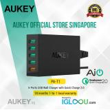 Coupon Aukey 54W 5 Port Usb Desktop Wall Charger Compatible With Qualcomm Quick Charge 2 Black
