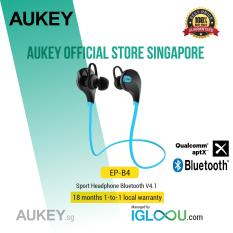 Retail Price Aukey Bluetooth 4 1 Wireless Stereo Sport Headphones Running Gym Exercise Sweatproof Earphones With Aptx Built In Mic For Iphone Samsung Android Smartphones Blue