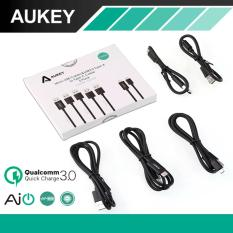 Buy Aukey Cb Td2 Quick Charge 5 Pack 1M Premium Micro Usb Type C Quick Charge And Sync Cable Black Aukey Cheap