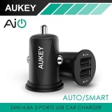Best Buy Aukey Cc S5 Mini 4 8A Dual Port Usb Car Charger Universal Fast Smart Car Charger Intl