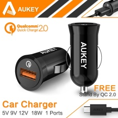 Aukey CC-T5 For Qualcomm Aukey Quick Charger QC 2.0 Fast USB Car Charger Adapter
