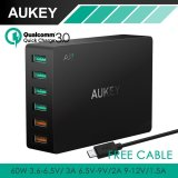 Aukey Pa T11 6 Port Usb 3 Travel Quick Charger Universal Charger Black Intl In Stock