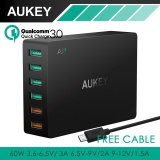 Aukey Pa T11 6 Port Usb 3 Travel Quick Charger Universal Charger Black Uk Us Plug Intl Sale