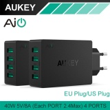 Buying Aukey Pa U36 Multi Usb 40W 8A Travel Wall Charger Adapter With Foldable Plug For Ios And Android Charger Eu Us Uk Plug Intl