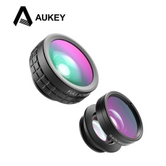 Buy Aukey Pl A1 Mini Clip On Optic Cell Phone Camera Lens Kit 180 Degree Fisheye Lens 110 Degree Wide Angle 10X Macro Lens For Phones Intl On China