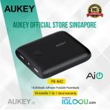 Great Deal Aukey Pocket 10000Mah Portable Charger With Dual Usb 3 1A Output For Iphone 7 7 Plus Ipad Pro Air 2 And More