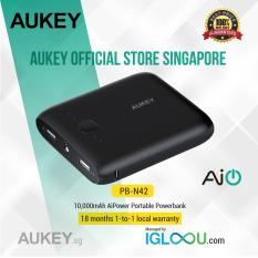 Sale Aukey Pocket 10000Mah Portable Charger With Dual Usb 3 1A Output For Iphone 7 7 Plus Ipad Pro Air 2 And More Aukey On Singapore