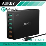 Review Aukey Quick Charge 3 6 Port Usb Travel Quick Charger Universal Fast Charger For Samsung Galaxy S8 Lg Xiaomi Iphone 7 8 Nexus7 Pa T11 Intl Aukey