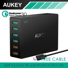 Aukey Quick Charge 3 6 Port Usb Travel Quick Charger Universal Fast Charger For Samsung Galaxy S8 Lg Xiaomi Iphone 7 8 Nexus7 Pa T11 Intl Coupon