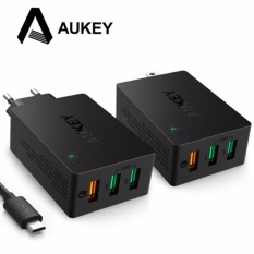 AUKEY Quick Charge for Phone QC 2.0 USB Travel wall charger 3 Port Smart Fast Charger