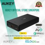 Latest Aukey Usb C 30000Mah Power Bank Portable Charger With 29W Power Delivery Quick Charge 3 Battery Pack For Nintendo Switch Phones Tablets And More