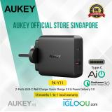 Sale Aukey Usb C Charger With 30W Power Delivery 2 18W Quick Charge 3 Usb Wall Charger For Iphone X 8 Macbook Pro Ipad Pro Samsung Note8 And More Singapore
