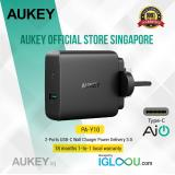 Sale Aukey Usb C Charger With 46W Usb C Power Delivery 3 5V 2 1A Ports Usb Wall Charger For Macbook Pro Iphone X 8 Plus Samsung Note8 And More Aukey Branded