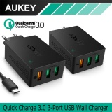 Discount Aukey Usb Charger Quick Charge 3 3 Port Usb Wall Charger For Lg G5 Samsung Galaxy S7 S6 Edge Nexus 6P 5X Iphone 7 Plus Ipad Pa T14 Intl Aukey On China