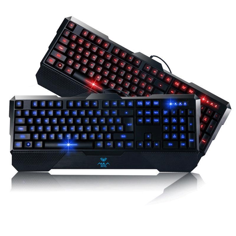 AULA Gaming Keyboard 3-Colors Backlit Ajustable LED Illuminated (Black)(Export)(Intl) Singapore