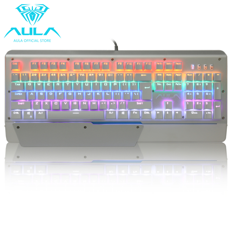 AULA OFFICIAL 2011 LED Multicolor Backlit Gaming Keyboard Singapore