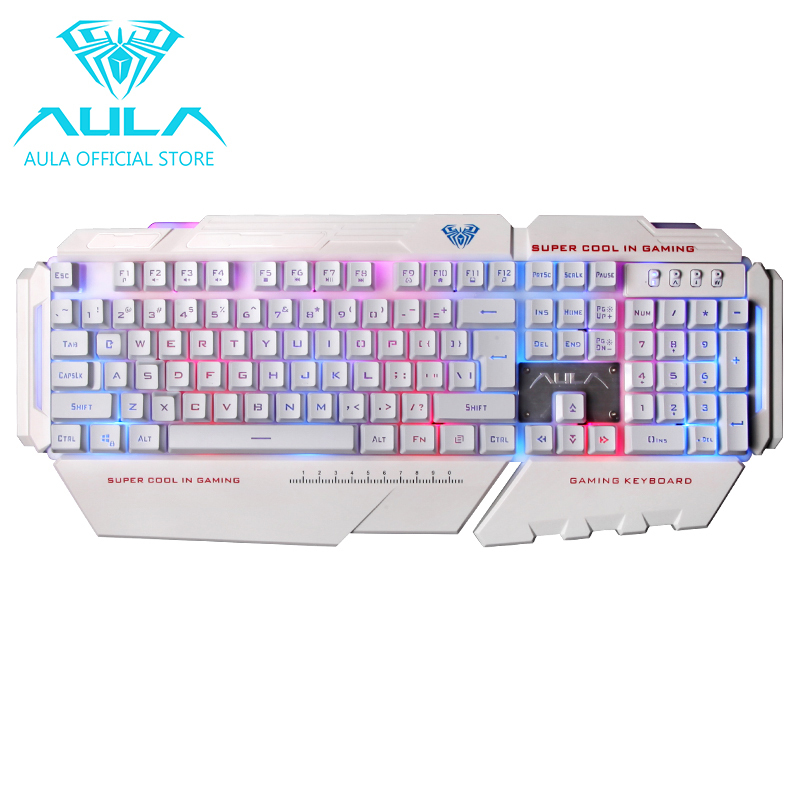 AULA OFFICIAL Command USB Gaming Keyboard (White) Singapore