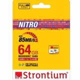 Authentic 64G Ultra High Speed Nitro Strontium Microsd 85Mb S Deal