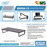 Buy Authentic Deepcool M Desk F2 Monitor Stand Mdf Panel And Aluminum Alloy Legs Hold Up To 15Kg Black Deepcool Online