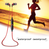 Buy Awei A960Bl Bluetooth Wireless Sweatproof Sport In Ear Headphones Red Online