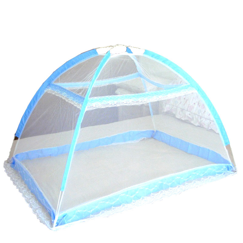 Sale Baby Infant Bed Canopy Mosquito Net Tent Foldable Portable Crib Netting Blue Oem Branded