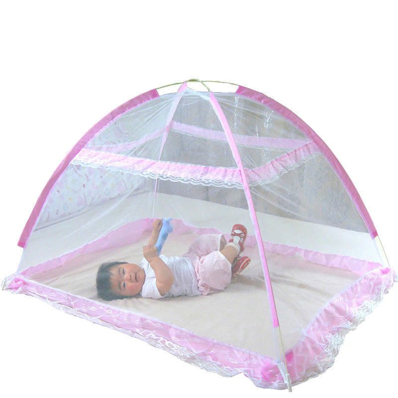 Buy Baby Infant Bed Canopy Mosquito Net Tent Foldable Portable Crib Netting Pink Oem Cheap