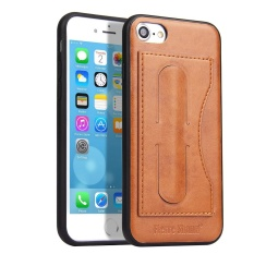 Back Case For Iphone 7 4 7 Inch Cases Genuine Leather Back Cover With Card Holder And Stand Function Black Intl Shopping