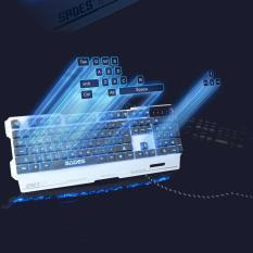 Backlight Gaming Keyboard 104 keys Wired USB Metal Base Keyboard for Game WH Singapore