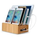 Deals For Bamboo Multi Device Cords Charging Station Dock For Smart Phones And Tablets Intl