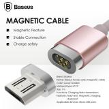 Cheap Baseus 1M 2 4A Micro Usb Magnetic Charging Cable For Samsung S7 Etc Rose Gold Intl