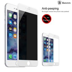 New Baseus Iphone 7 Plus 23Mm Soft Pet Anti Peeping Privacy Screen Protector 9H 3D Tempered Glass For Apple Iphone 7 Plus Protective Flim White Intl