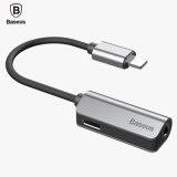 Compare Price Baseus L32 2 In 1 Audio Adapter Lightning To 3 5Mm Cable For Iphone7 7 Plus 2 In 1 Charging Cable For Lightning Jack To Headphone3 5Mm Jack Aux Cable Silver Intl Oem On China