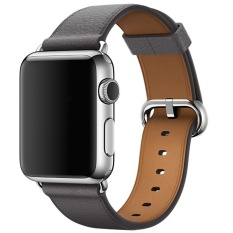 Low Cost Beautymaker Luxury Genuine Leather Watch Strap Bracelet Wrist Band For Apple Watch Iwatch 42Mm Grey Intl