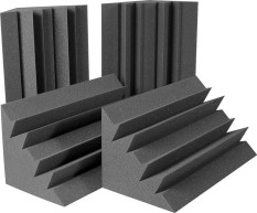 Price Comparisons For Beiyin 8 Pcs New Flame Retardant Type Studio Acoustic Foam Bass Trap Sponge Corner Sound Absorption Wall Sound Treatment Foam Black 12 12 25Cm Intl