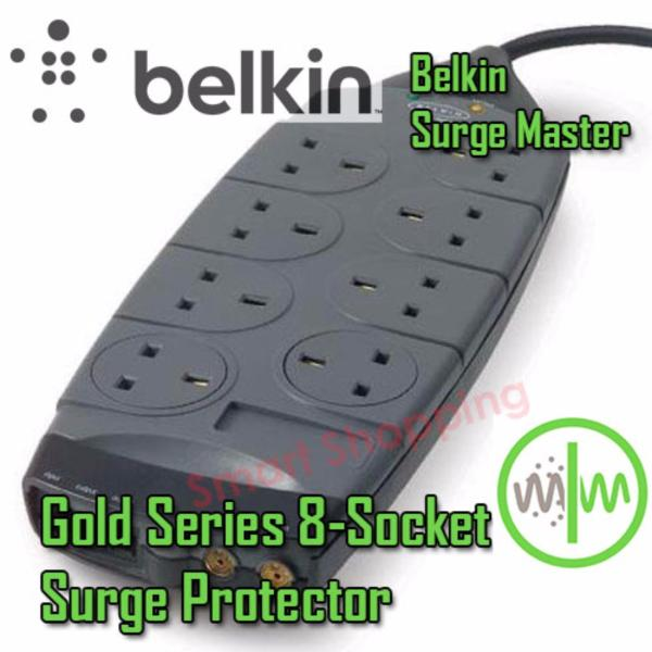 Belkin Gold Series 8-Socket Surge Protector (Grey Color)