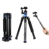 Buy Benro Is05 Portable Light Aluminum Alloy Tripod Kit Center Column Can Turn To Selfie Stick For Smartphone Mirrorless Camera Dslr Online