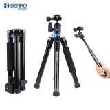Best Benro Is05 Portable Light Aluminum Alloy Tripod Kit Center Column Can Turn To Selfie Stick For Smartphone Mirrorless Camera Dslr Camera Black Intl