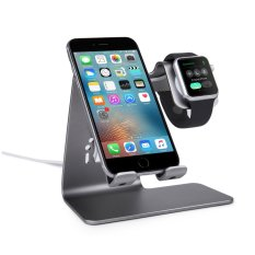Discount Bestand 2 In 1 Phone Desktop Tablet Stand Apple Watch Charging Stand Holder For Apple Iwatch Iphone Ipad Space Grey Intl Spinido