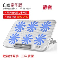 BIOSYS Suohuang S6[NP30] Fan Laptop Cooler Cooling Pad Ultra-Silent 6 Ice Cooling for 14 -15.6 Laptop (with Support, Belt Speed) - intl
