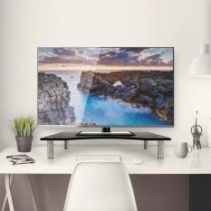 Buy Black Glass Curved Monitor Computer Tv Screen Display Riser Shelf Desktop Stand Intl Not Specified Online
