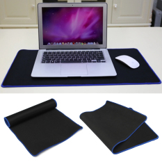 Black Rubber Large Long Computer Laptop Mouse Keyboard Desk Pad Mat 60*30cm