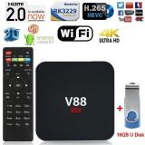 Buy Black V88 Tv Box Rk3229 Quadcore 4K Wifi Hdmi Android 5 1 1G 8G Smart Tv Box Intl Online