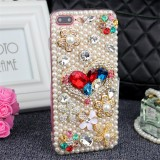 Latest Bling Flower Pearl Rhinestone Phone Case For Samsung Galaxy A5 2017 Colorful Crystal Diamond Soft Back Cover For Samsung Galaxy A5 2017 Intl