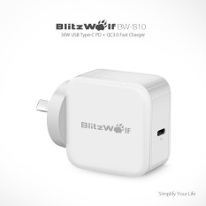 Buy Blitzwolf Bw S10 30W Usb Type C Pd Qc3 Fast Charger Au Adapter For Iphone 8 White Intl
