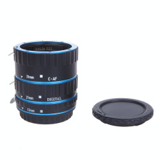 Retail Price Blue Metal Mount Auto Focus Af Macro Extension Tube Ring For Kenko Canon Ef S Lens T5I T4I T3I T2I 100D 60D 70D 550D 600D 6D 7D Intl