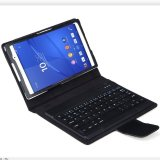 Best Deal Bluesky Detachable Ultra Thin Bluetooth Keyboard Stand Case Cover For Sony Xperia Z3 Compact Tablet Black