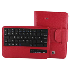 Retail Price Bluetooth Keyboard Abs Plastic Laptop Stylish Keys For Samsung Galaxytab 4 7 7 Inch Tablet Sm T230 Sm T231 Sm T235 Red Intl