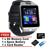 Retail Price Bluetooth Smart Watch Smartwatch With Camera For Iphone And Android Smartphones Silver Intl